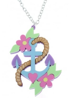 Pastel Anchor Necklace