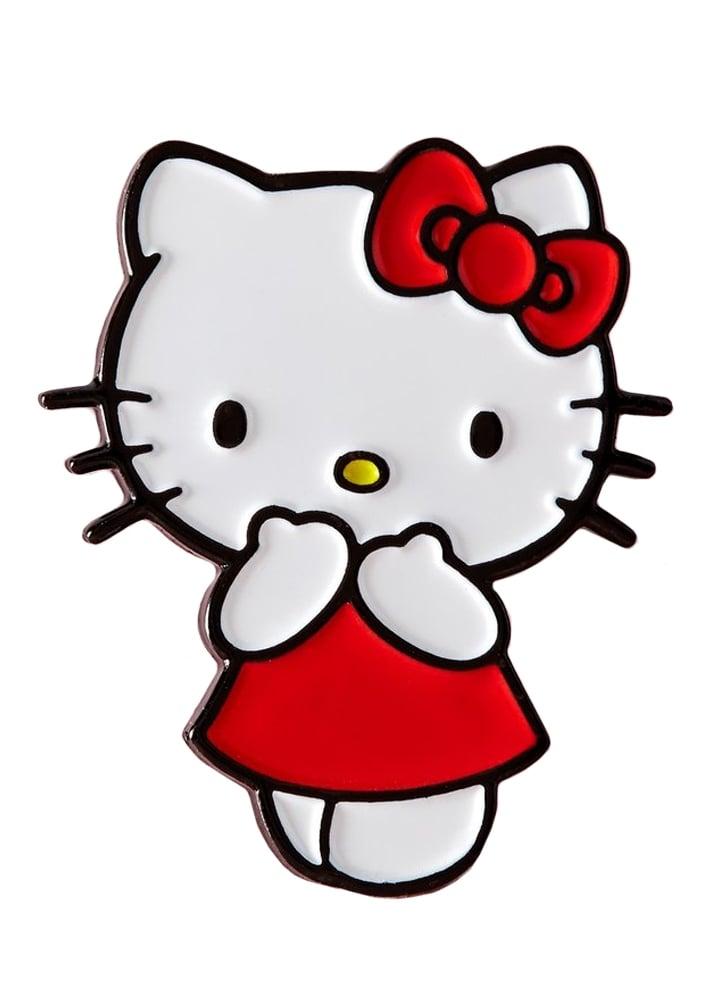 Punky Pins Red Dress Hello Kitty Enamel Pin