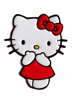 Red Dress Hello Kitty Enamel Pin