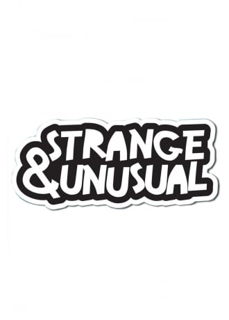 Punky Pins Strange & Unusual Die Cut Vinyl Sticker