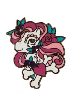 Tattoo Pony Enamel Pin