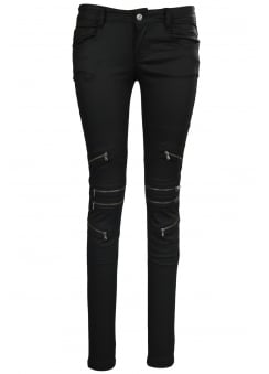 Biker Coated Trousers
