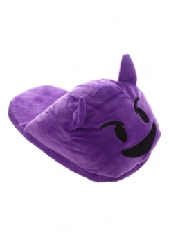 Purple Devil Emoji Slippers