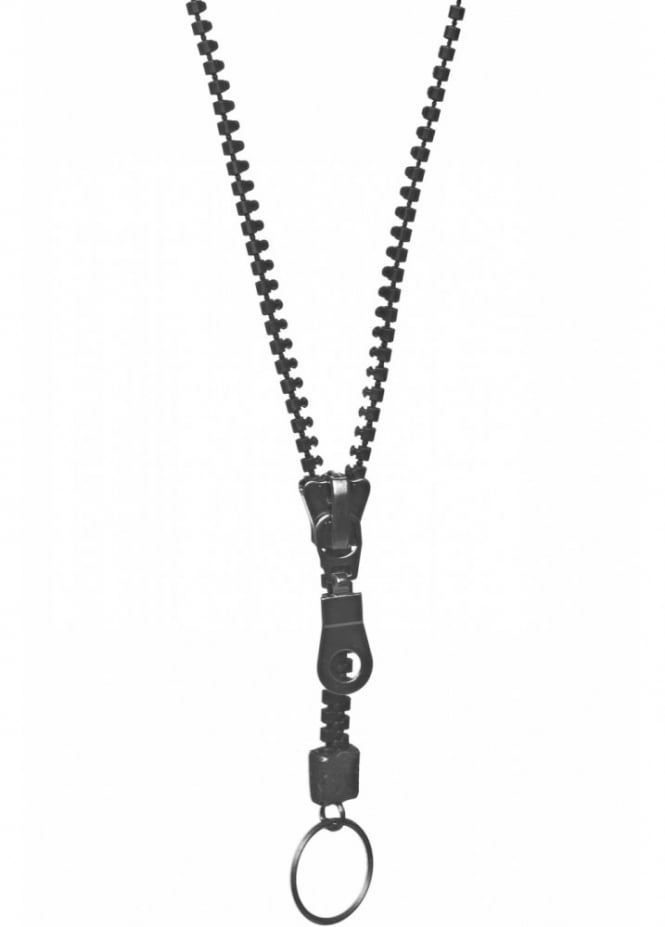 Queen of Darkness Black Zip Necklace