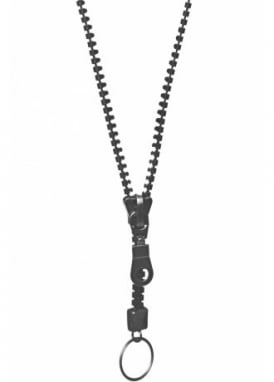 Black Zip Necklace