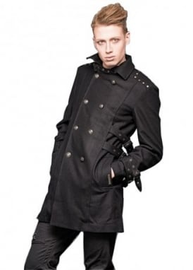 Buckle Collar Military Coat