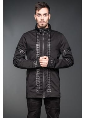Faux Leather Stud Jacket