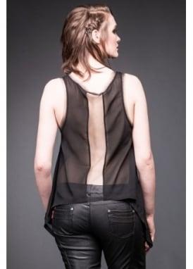 Transparent Back Vest Top
