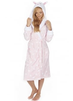 Rabbit Fleece Dressing Gown