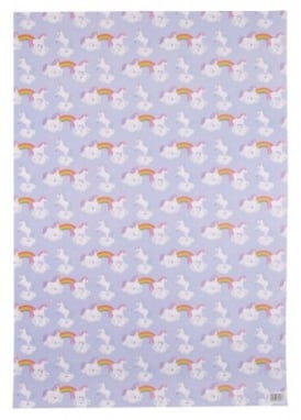Rainbow Unicorn Wrapping Paper & Tag