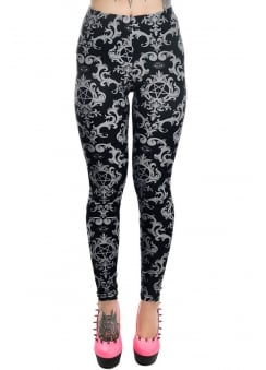 Baroque Pentagram Addicted Leggings