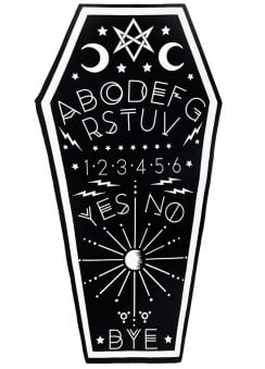 Ouija Board Coffin Shaped Goth Beach Towel