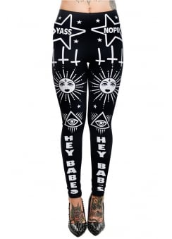 Sassy Ouija Board High Waist Addicted Leggings