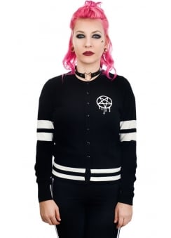 Sporty-gram Graffiti Pentagram Knit Cardigan