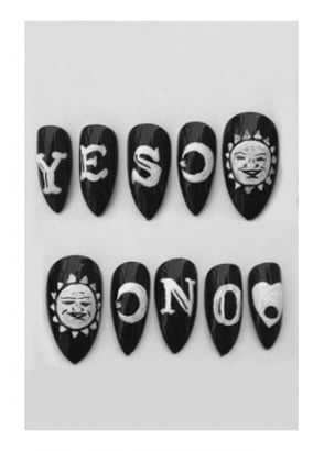 10 Ouija Board Stiletto Nails