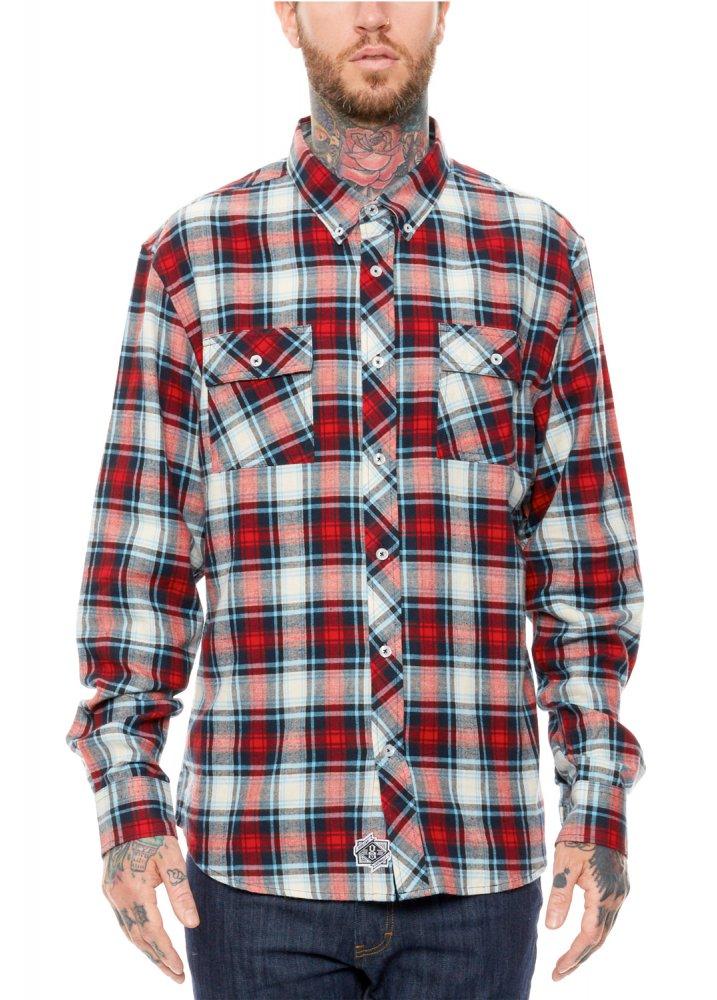 Rebel8 angelino button up flannel shirt attitude clothing for Button up flannel shirts