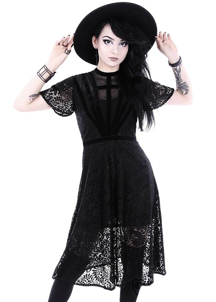 Restyle Black Dahlia Gothic Dress Attitude Clothing