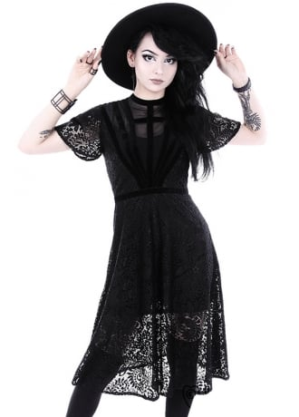 Restyle Black Dahlia Gothic Dress