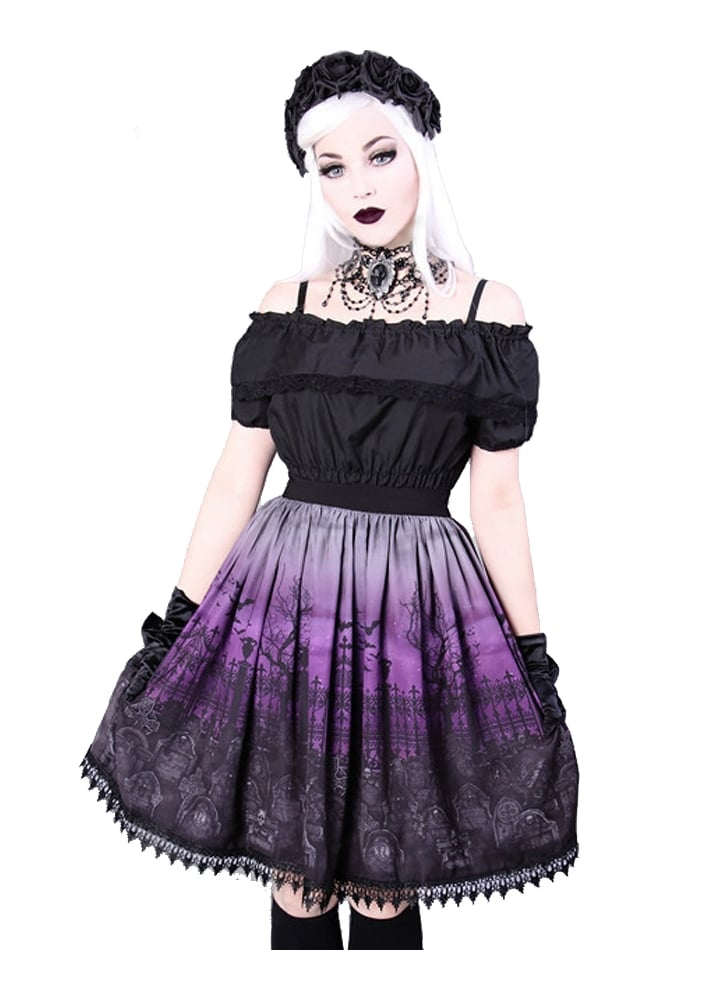 Restyle Cemetery Gothic Lolita Skirt Attitude Clothing
