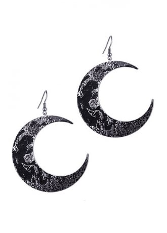 Restyle Crescent Moon Textured Earrings