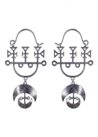 Restyle Demon Sigil Gothic Earrings