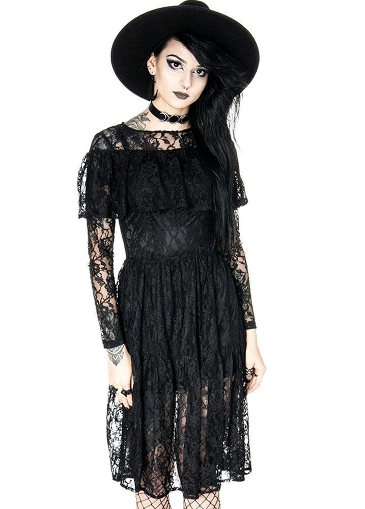 f286c00c9a4 Restyle Gloomy Prairie Gothic Dress
