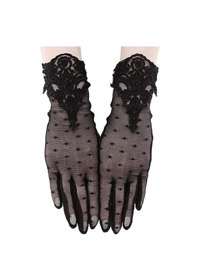 Restyle Guipure Gloves
