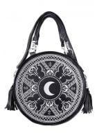 Henna White Embroidered Round Bag