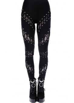 Laced Up Gothic Leggings