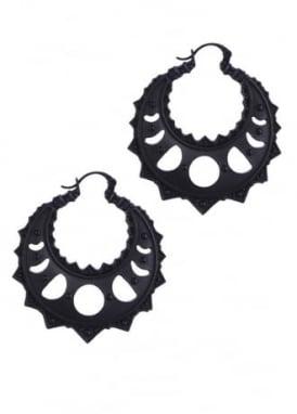 Lunar Crescent Hoop Earrings