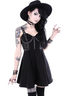 Mesh Pentagram Gothic Dress