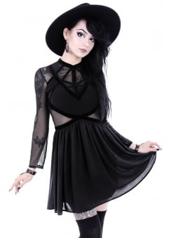 Mixed Straps Gothic Dress