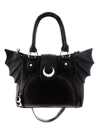 Restyle Moon Bat Elegant Goth Bag