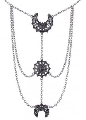 Oriental Moon Phases Necklace