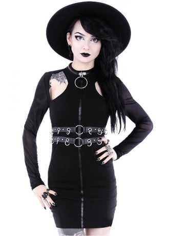 Restyle Ring Collar Gothic Dress