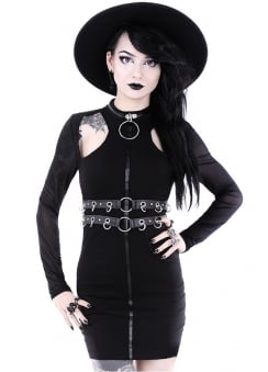 Ring Collar Gothic Dress