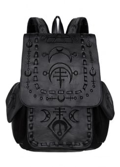 Runic Moon Black Gothic Backpack