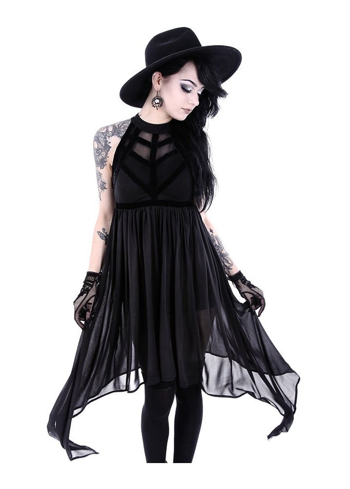 restyle spiderweb gothic dress attitude clothing. Black Bedroom Furniture Sets. Home Design Ideas