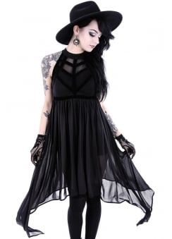 Spiderweb Gothic Dress