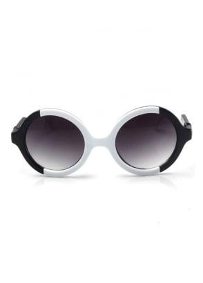Round Two Tone Sunglasses