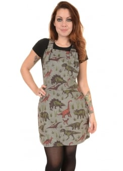 Adventure Dinosaur Corduroy Pinafore Dress