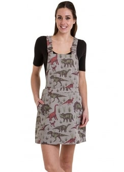 Adventure Dinosaur Pinafore Dress