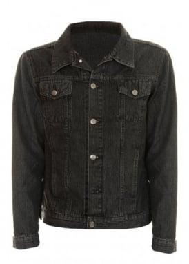 Black Stonewash Denim Jacket