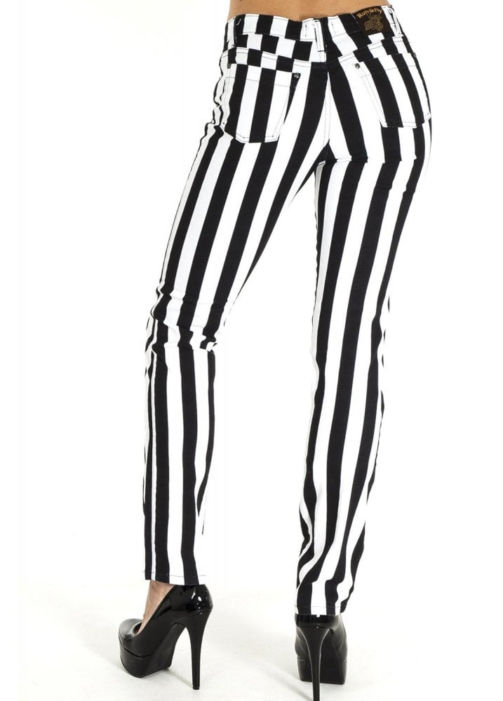 CLEARANCE Run /& Fly Mens Black /& Red Striped Skinny Jean