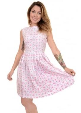 Bunny Hearts Flared Dress