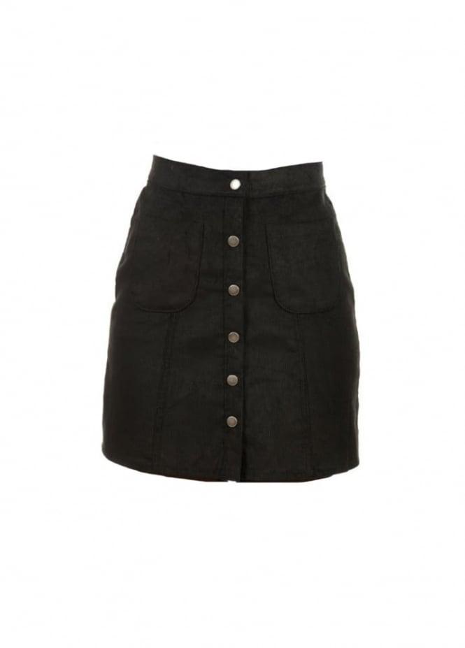 run fly corduroy a line skirt attitude clothing