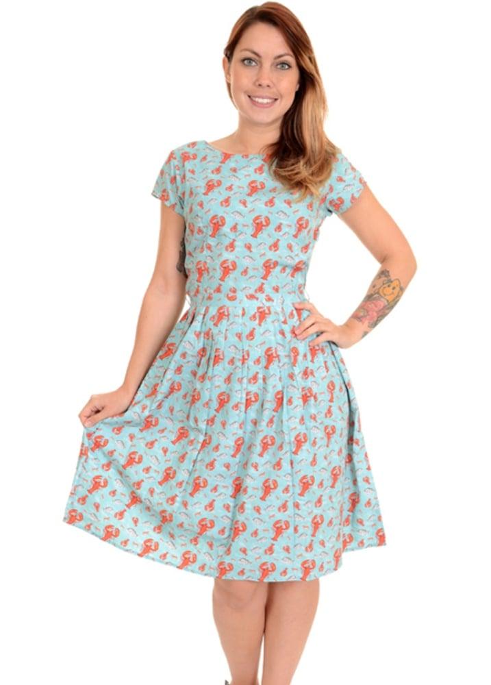 Run & Fly Lobster Retro Tea Party Dress | Attitude Clothing