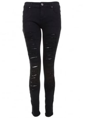 Shredded Rip Skinny Fit Jeans