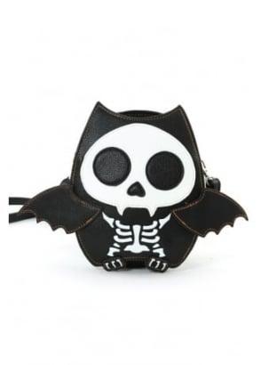 Skeleton Bat Shoulder Bag
