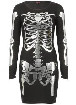 Skeleton Bodycon Mini Dress